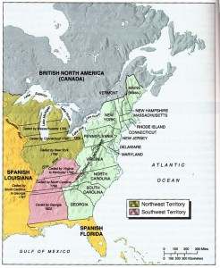 Western Possessions Map 1787