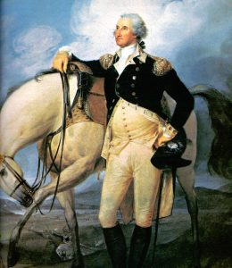 George Washington Quotes, General George Washington standing next to his horse