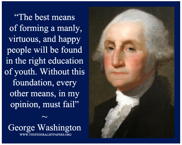 George Washington Poster The Best Means Of Forming A