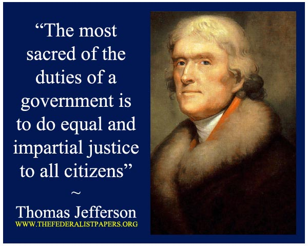 Thomas jefferson Quote Poster, Equal justice