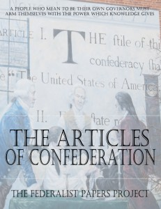 The Articles of Confederation edited by Steve Straub book cover