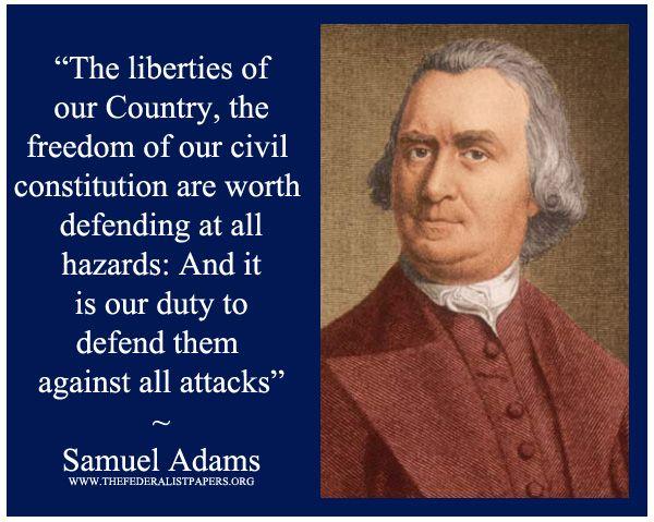 Samuel Adams Poster, Defending Freedom