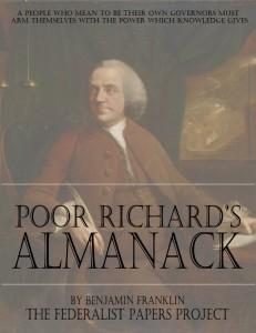 Poor Richards Almanack by Benjamin Franklin book cover