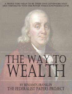 The Way to Wealth by Benjamin Franklin book cover