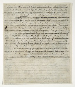 Thomas Jefferson First Inaugural Address Original Manuscript