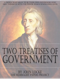 """The Two Treatises of Government"" by John Locke Book Cover"