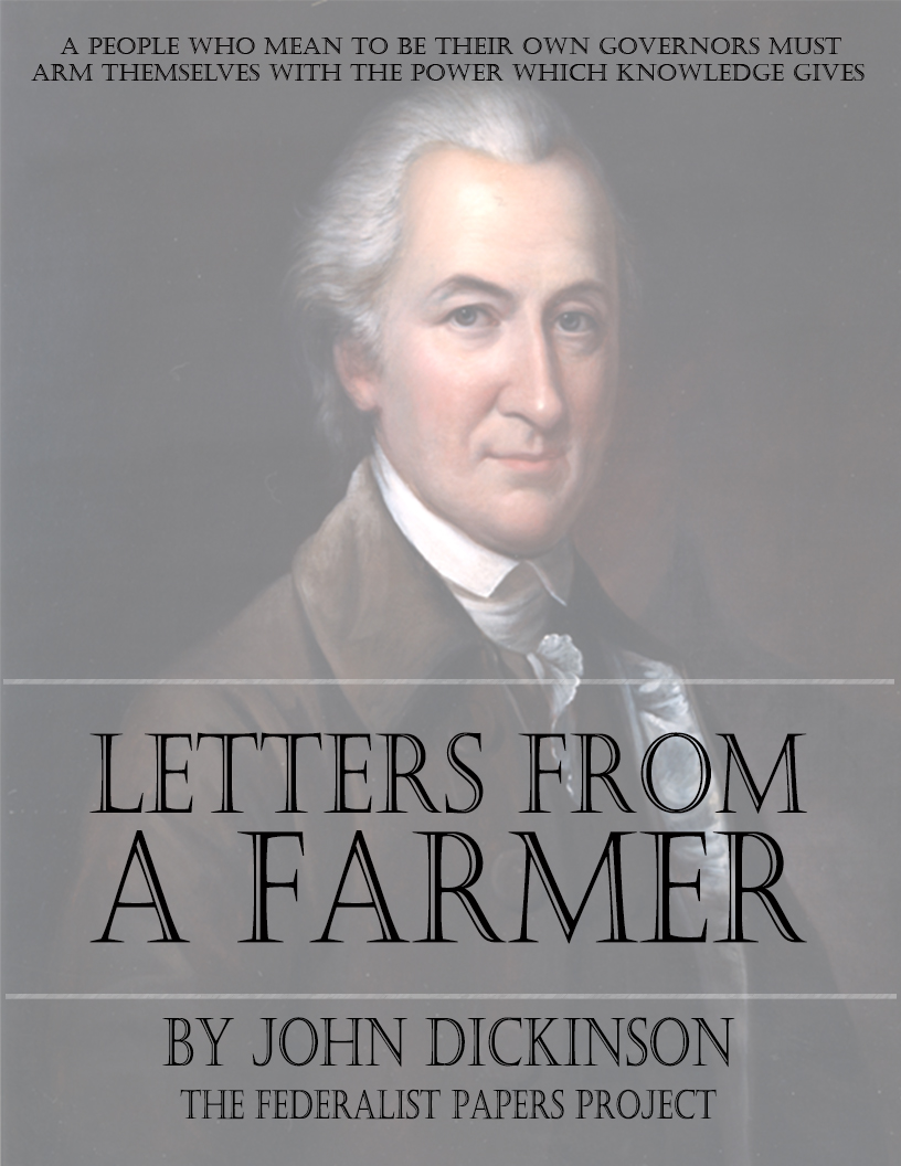 "GET A FREE COPY OF ""Letters from a Farmer In Pennsylvania"" by John ..."