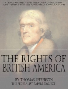 "A Summary View of the Rights of British America"" by Thomas Jefferson Book Cover"