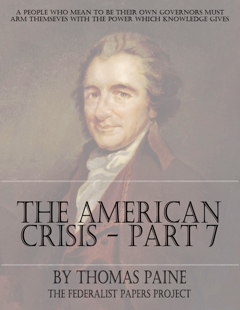 "what is the summary of the crisis no 1 by thomas paine The crisis quotes want to read saving ― thomas paine, the crisis, #1 0 likes like ""character is much easier kept than recovered, and that man, if any such."