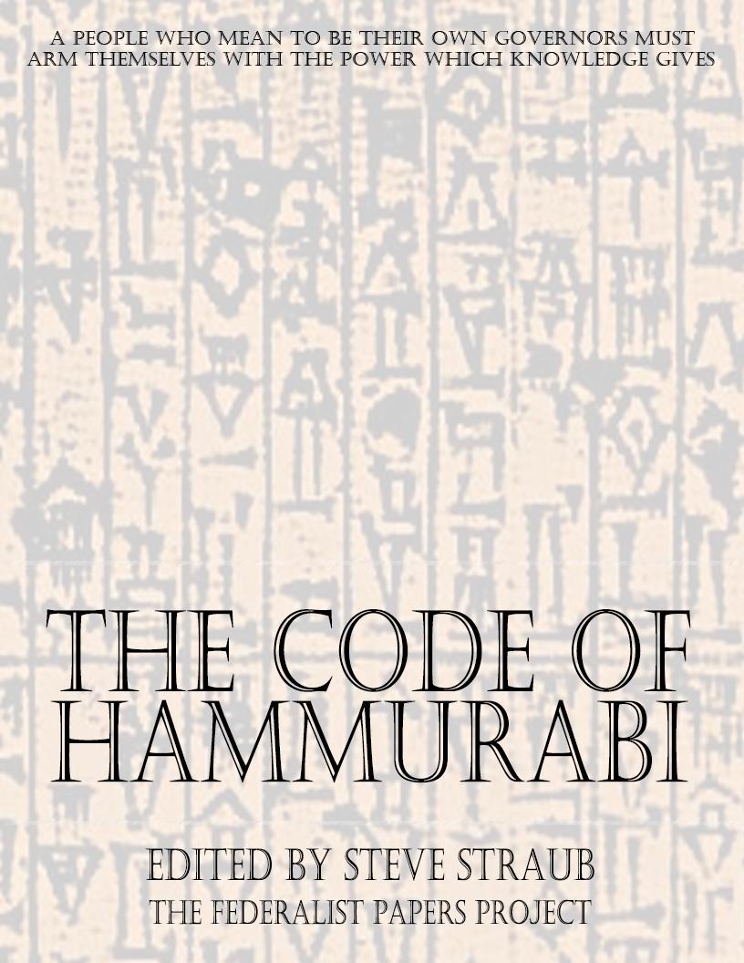hammurabis code essay example Code of hammurabi essays: over 180,000 code of hammurabi essays, code of hammurabi term papers, code of hammurabi research paper, book reports 184 990 essays, term and research papers.