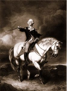 George Washington on horseback