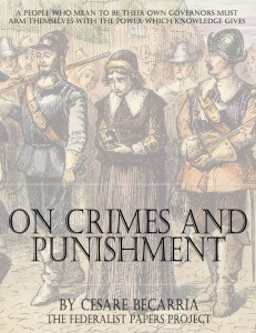 Essay on Crimes and Punishment by Cesare Beccaria Book Cover