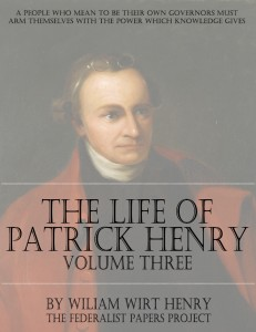 Life, Correspondence & Speeches of Patrick Henry - Volume Three Book Cover