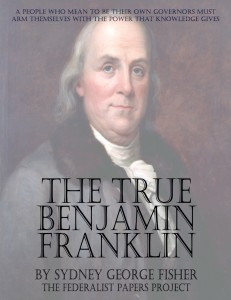 """The Real Benjamin Franklin"" by Sydney George Fisher Book Cover"