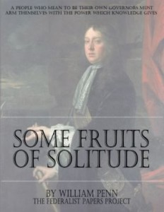 Some Fruits of Solitude by William Penn book cover