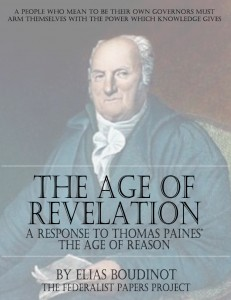 """The Age of Revelation"" by Elias Boudinot book cover"