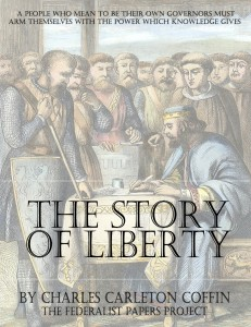 """The Story of Liberty"" by Charles Carleton Coffin book cover"