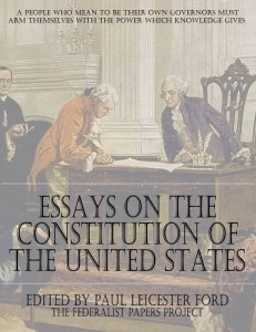 Essay on the United States of America Cover Page