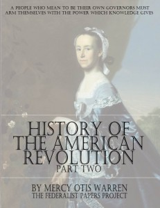 The History of the American Revolution – Volume Two by Mercy Otis Warren Book Cover