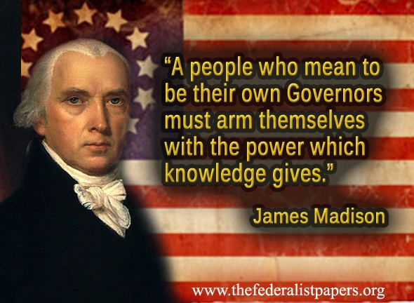 James Madison Quotes Gorgeous James Madison Quote The Power Of Knowledge