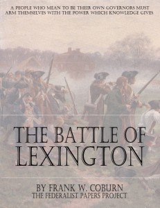 """The Battle of Lexington"" by Frank W. Coburn book cover"