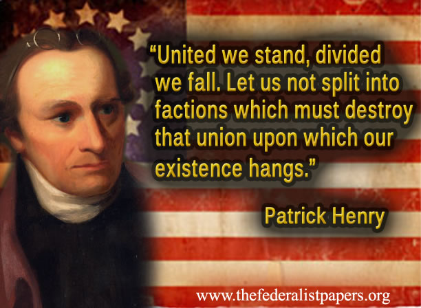 Patrick Henry Poster, United We Stand, Dived We Fall