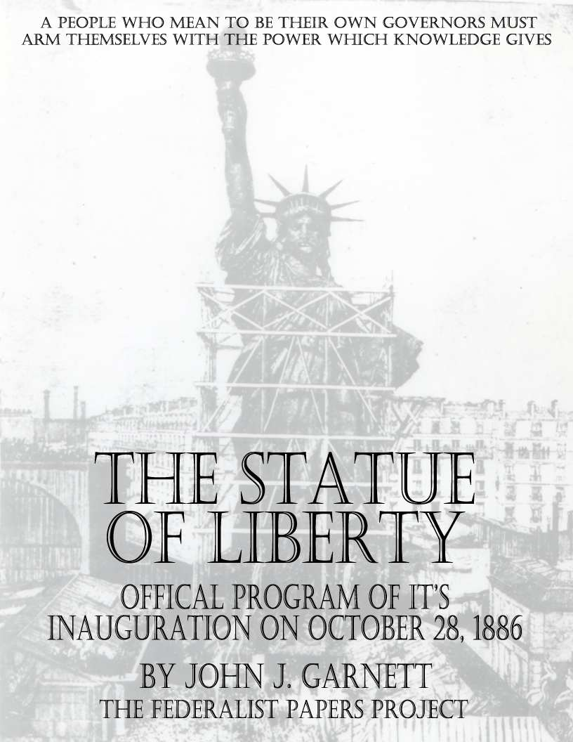 Statue Of Liberty Quote The Statue Of Liberty  The Official Program Of Its Inauguration