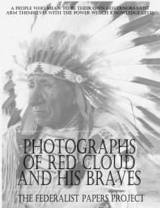 """Photographs of Red Cloud & His Braves"" by Alexander Gardner book cover"