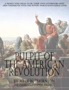 """The Pulpit of the American Revolution"" by John W. Thornton book cover"