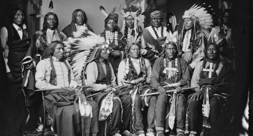 Red Cloud and his tribe