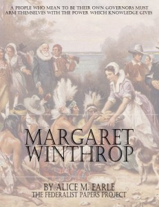 """The Life of Margaret Winthrop"" by Alice M. Earle  book cover"