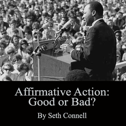 the affirmative action program essay Affirmative action in the united states began with efforts to ensure the elimination  of discriminatory practices, but soon developed into programs conferring.