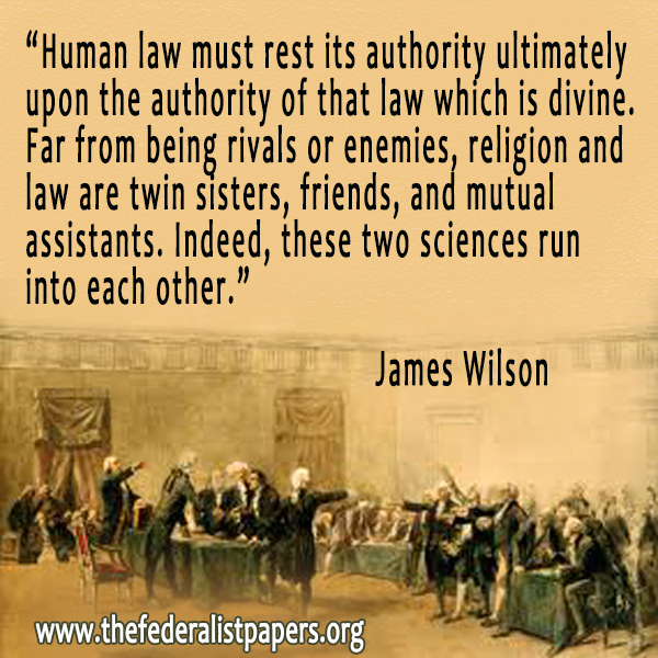 James Wilson, On law and religion