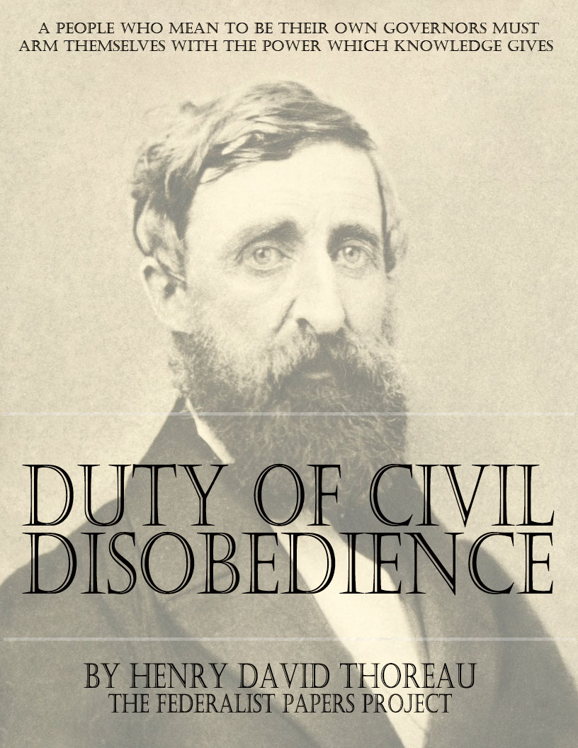 on the duty of civil disobedience civil disobedience by henry david thoreau book cover