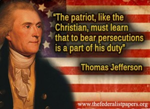 The patriot, like the Christian, must learn that to bear revielings & persecutions is a part of his duty