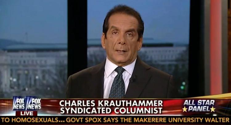 Charles Krauthammer, Mozilla firing of Brandon Eich discussion, youtube screenshot