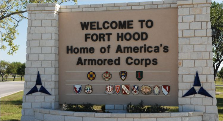 Fort Hood Entrance Sign