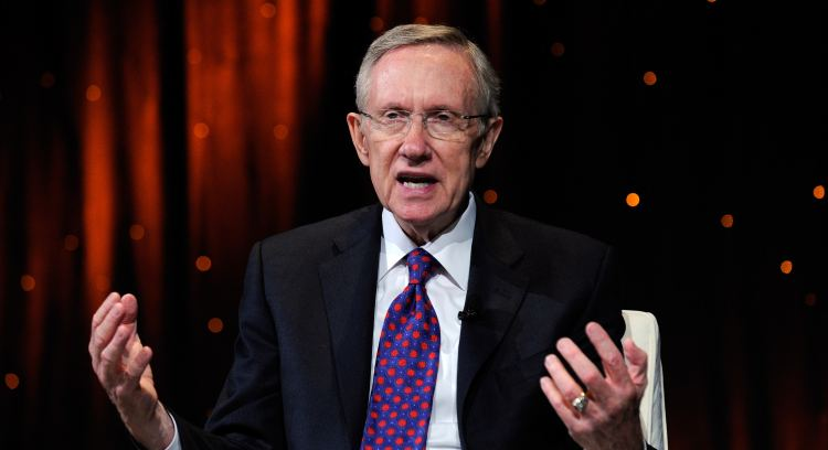 U.S. Senate Majority Leader Harry Reid (D-NV) speaks at the fifth annual Netroots Nation convention at the Rio Hotel & Casino July 24, 2010 in Las Vegas, Nevada. Netroots Nation, formerly called the YearlyKos Convention, is a political convention for bloggers and political activists.