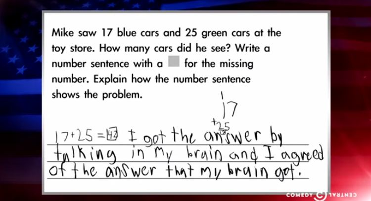 The Absurdity Of Common Core In Special >> Watch Colbert S Ruthless Takedown Of Absurd Common Core Math Problems