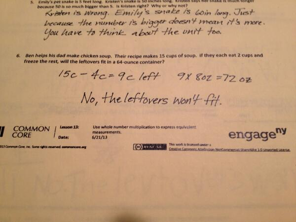 ... Most Ridiculous Common Core Problems So Far | The Federalist Papers