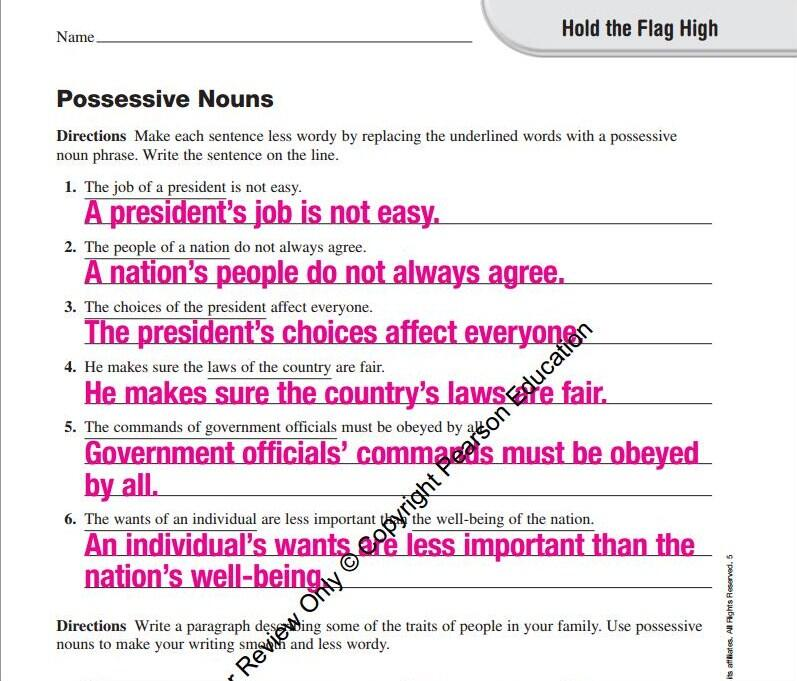 English Worksheet For Politically Indoctrinating 3rd Graders