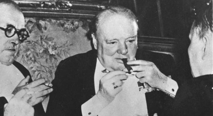 Winston Churchill at Potsdam Conference 1945 Wikimedia Commons