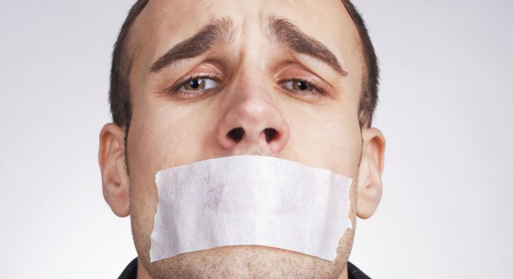 Man-with-tape-on-mouth-being-censored