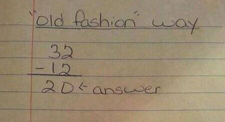 "math problem solved the ""old"" way versus ""common core"" way vfdvfdvfd"