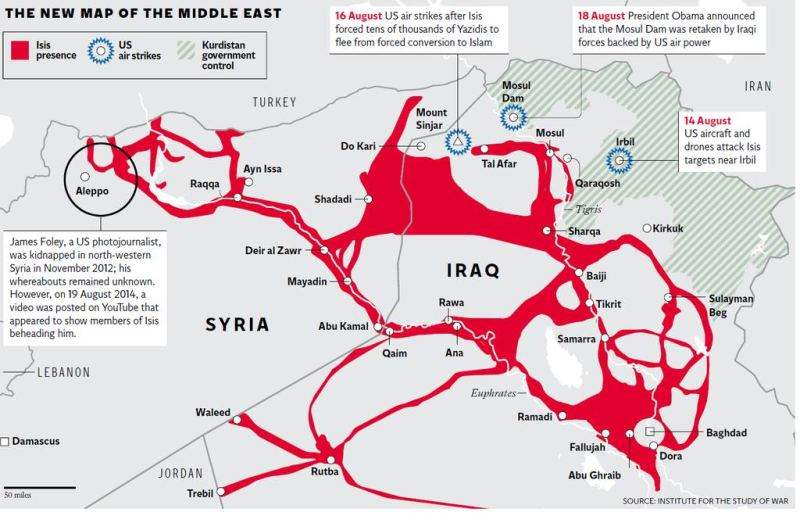 Map Shows How Much Territory ISIS Controls In Iraq And Syria