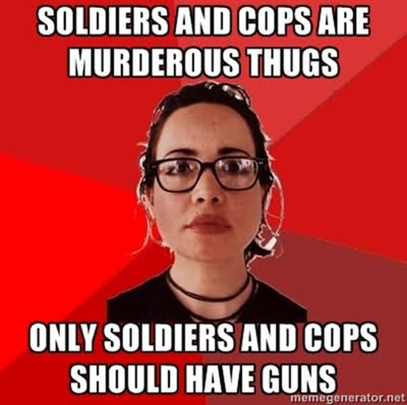 sdcsdcsdcwe liberal hypocrisy on police brutality and gun control