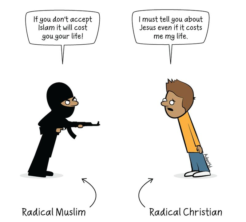 Powerful Image About Radical Muslims And Radical Christians-8574