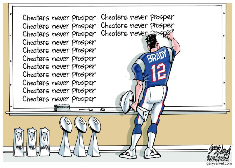 Cartoonists Slam Patriots Tom dy; Here's Some of the Best