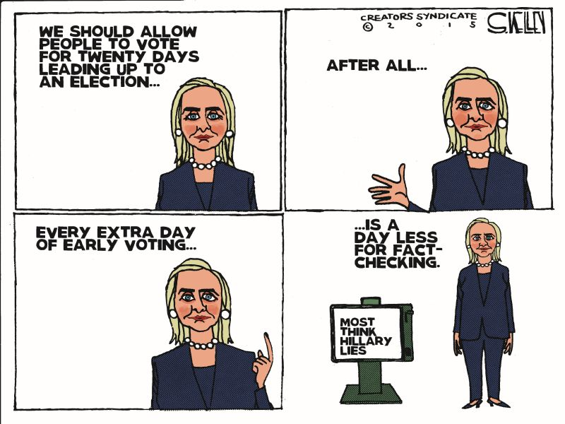 Here Are Some Of This Week's BEST Anti-Hillary Cartoons