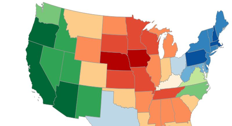 Map Shows Real Power Of US Economy When Free Market Rules - Us economy map